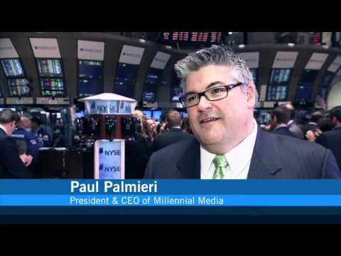 Millennial Media Celebrates IPO on the NYSE rings the NYSE Opening Bell