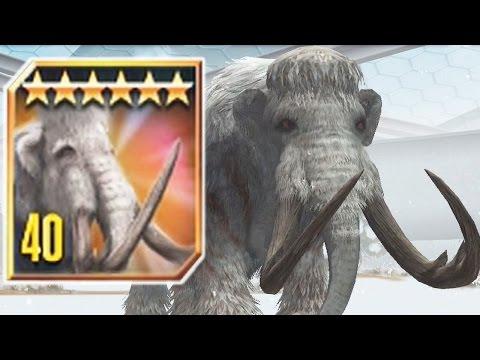 WOOLLY MAMMOTH LVL 40 - New CENOZOIC CREATURE - Jurassic World The Game