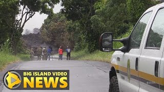 Officials Assess Lava-Severed Highway 137 (May 20, 2018)