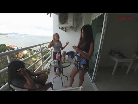 THAI GIRLS IN MY HOTEL Vlog14 | Beach view, Room, Street, Car | Thailand Bangkok Pattaya Travel