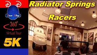 Radiator Springs Racers @ Night | 5K | 360° | VR POV | California Adventure
