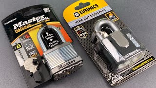 [952] Master Lock vs. Brinks — 50mm Laminated Steel Padlocks