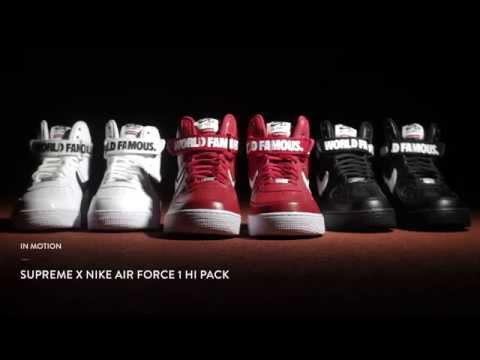 In Motion | Supreme X Nike Air Force 1 High video