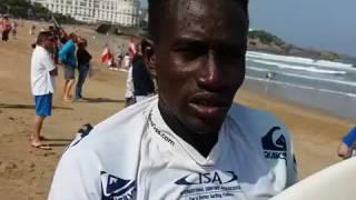 Un sénégalais au championnat de surf à Biarritz