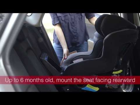 Fitting a Convertible Child Car Seat