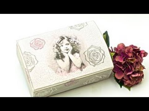 How to decorate a wooden box decoupage diy youtube for Diy decorative wood boxes