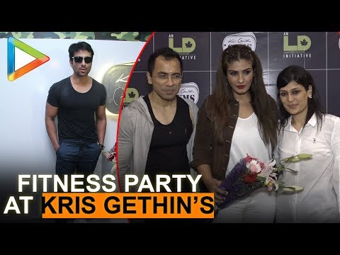 Sonu Sood & Raveena Tandon Celebrate fitness party at Kris Gethins