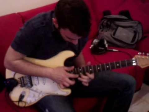 Best Tapping riff of Michael Romeo(sea of lies) Cover By Kostas X