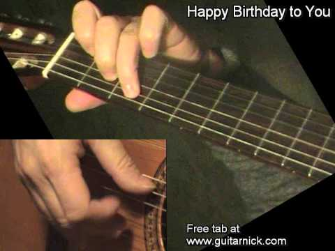HAPPY BIRTHDAY: Fingerstyle Jazz Guitar Lesson + TAB By GuitarNick
