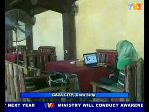 Gaza Hamas rules, ban the woman from smoking water pipe in cafe (Nightline 20/7/10)