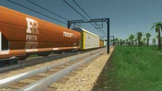 Cities: Skylines Look at the freight train 貨物列車を眺める