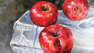 LIVE: Painting on Aluminum?!? Apples in Oils // Free painting Class