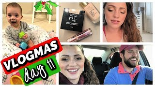 VLOGMAS DAY 11 | Makeup I'm Wearing Today, Gigi's Belly Laugh, Out to Lunch!
