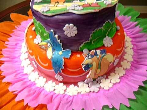 Tortas Yigoyen- Dora La exploradora - torta y gelatina - YouTube