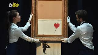 This is where you can see Banksy's infamous 'shredded painting'