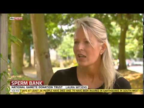 Sky News report on launch National Sperm Bank - with interview LW