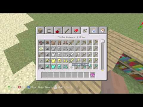 Minecraft Xbox 360/PS3 Seed - TU14 - How To Enchant Books W/ Best Pickaxe Ever