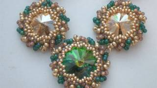 Tutorial perline - Come incastonare un Rivoli Swarovski al Peyote con perline - Lezione 2