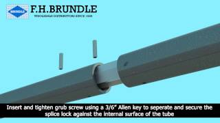 F H Brundle - Splice Lock used for joining tube - Double version