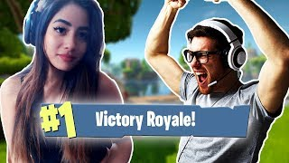 Carrying A Guy To *VICTORY* In Duos On Fortnite