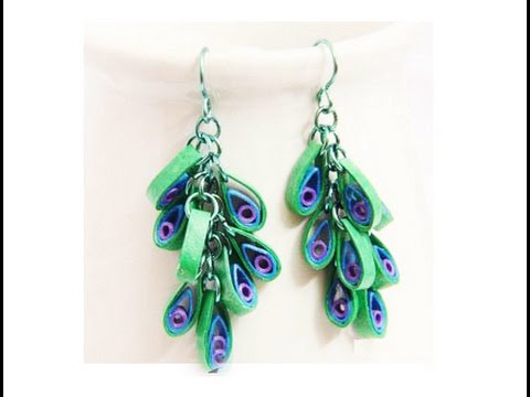 Quilling Paper Earrings Making Video Quilling Papers Earring New