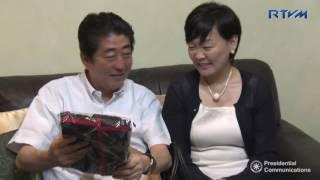 Visit of Prime Minister Shinzo Abe to President Rodrigo Roa Duterte?s Private Residence