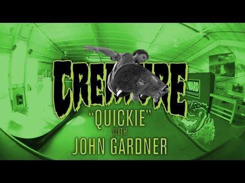 Creature Quickie: John Gardner at Woodward Camp