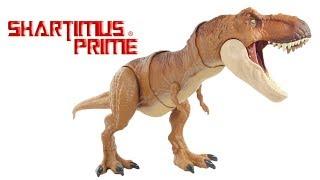 Jurassic World T-Rex Thrash N Throw Mattel Fallen Kingdom Movie Tyrannosaurus Rex Figure Toy Review