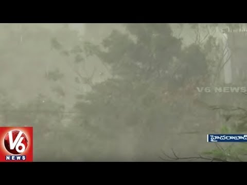 Sudden Rains And Hailstorm Hits Hyderabad City | Weather Report | V6 News