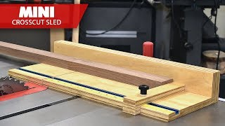 How To Make a Compact Table Saw Cross Cut Sled