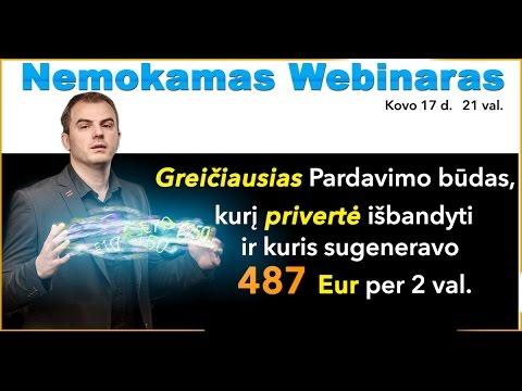 Webinaras - Greičiausias Pardavimo Būdas kuris sugeneravo 487 Eur