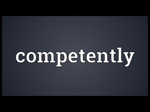 Header of competently