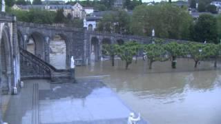 Inondation2013GrottedeLourdes(vidéo3)mardi18juinsoir:leSanctuairesousleseaux
