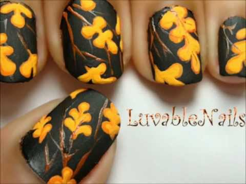 Fall - Autumn Leaves nail art
