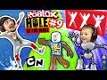 ROBLOX #9 HOLE IN THE WALL! + Extreme Cartoon Network Monster...