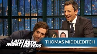 Thomas Middleditch Thinks Dungeons & Dragons Stole His Likeness - Late Night with Seth Meyers