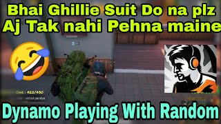 Part 4 ✔️ dynamo Playing With Random People, Maine Aj Tak Ghillie Suit Nahi pehna, AWM Mein lunga!