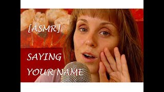 ASMR | SAYING YOUR NAME (OVER 100 NAMES!!!) GERMAN/ DEUTSCH