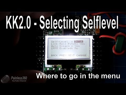Self level selection on KK2 0