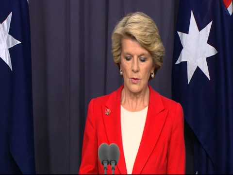 Aus Foreign Minister Julie Bishop on aid to the Philippines