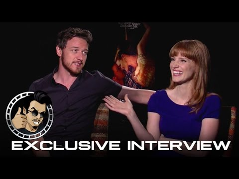 Jessica Chastain and James McAvoy Interview - The Disappearance of Eleanor Rigby (HD) 2014