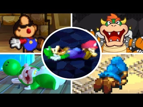 Evolution of Deaths and Game Over Screens in Mario RPGs (1996 - 2017)