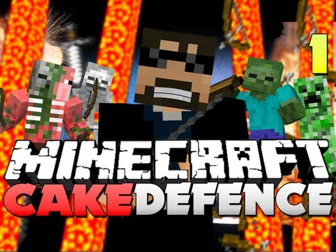 Minecraft CAKE DEFENSE Part 1 AGILITY UPGRADE OP