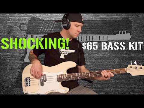 $65 eBay DIY P Bass kit unboxing. build. and review...SHOCKING!!!
