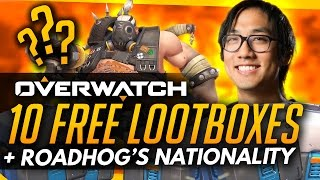 Overwatch | 10 FREE LOOTBOXES + Roadhog's TRUE Nationality [ROUNDUP]