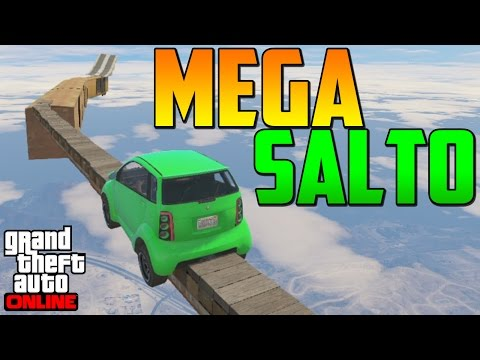 MEGA SALTO INCREÍBLE!!!! - Gameplay GTA 5 Online Funny Moments