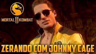 Mortal Kombat 11 - Zerando Com JOHNNY CAGE no Hard, o Astro do Cinema