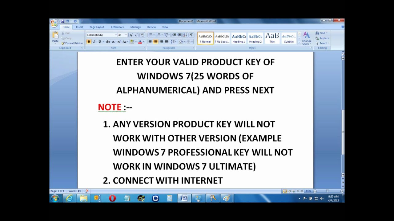 Watch on windows vista ultimate product key