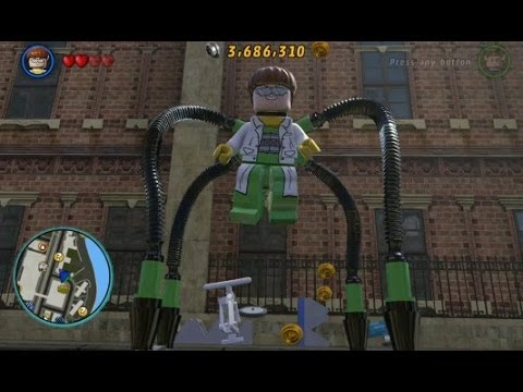 LEGO Marvel Super Heroes (PS4) - Doctor Octopus Free Roam Gameplay