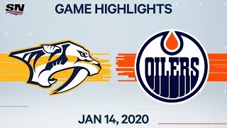 NHL Highlights | Predators vs. Oilers – Jan. 14, 2020